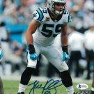 Luke Kuechly Autographed Signed Carolina Panthers 8x10 Photo BECKETT