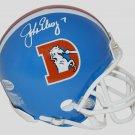 John Elway Autographed Signed Denver Broncos Mini Helmet BECKETT