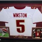 Jameis Winston Autographed Signed Framed FSU Seminoles Jersey JSA