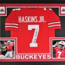 Dwayne Haskins Autographed Signed Framed Ohio State Buckeyes Jersey JSA