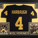 Jim Harbaugh Autographed Signed Framed Michigan Wolverines Jersey JSA
