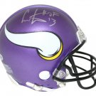 Cris Carter Autographed Signed Minnesota Vikings Mini Helmet BECKETT