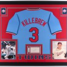 Harmon Killebrew Autographed Signed Framed Cut w/ Minnesota Twins Jersey PSA