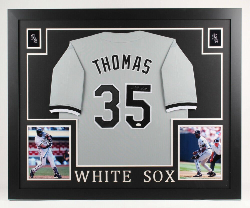 Frank Thomas Autographed Signed Framed White Sox Jersey JSA