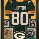 James Lofton Signed Autographed Green Bay Packers Framed Jersey JSA