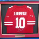 Jimmy Garoppolo Autographed Signed Framed San Francisco 49ers Nike Jersey BECKETT