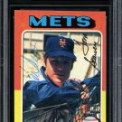 Tom Seaver Mets Autographed Signed 1975 Topps Card BECKETT