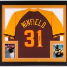 Dave Winfield Autographed Signed San Diego Padres Framed Jersey JSA