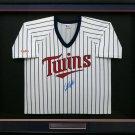 Kirby Puckett Autographed Signed Framed Minnesota Twins Jersey BECKETT