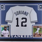 Alfonso Soriano Autographed Signed Framed New York Yankees Jersey JSA