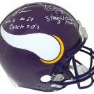 Cris Carter & Randy Moss Autographed Signed Minnesota Vikings FS Proline Helmet BECKETT