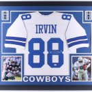 Michael Irvin Autographed Signed Dallas Cowboys Framed Jersey JSA