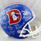Denver Broncos Orange Crush (10 Sigs) Autographed Signed Broncos FS Helmet JSA