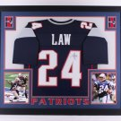 Ty Law Autographed Framed Signed New England Patriots Jersey JSA