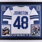 Daryl Moose Johnston Autographed Signed Dallas Cowboys Framed Jersey JSA