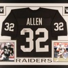 Marcus Allen Autographed Signed Framed Oakland Raiders Jersey JSA