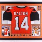 Andy Dalton Autographed Signed Framed Cincinnati Bengals Jersey JSA