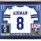 Troy Aikman Autographed Signed Framed Dallas Cowboys Jersey JSA