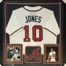Chipper Jones Autographed Signed Framed Atlanta Braves Jersey JSA