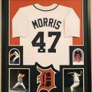 Jack Morris Autographed Signed Framed Detroit Tigers Jersey JSA