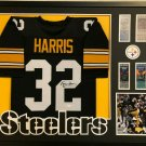Franco Harris Autographed Signed Pittsburgh Steelers Framed Jersey BECKETT