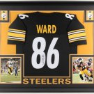 Hines Ward Autographed Signed Framed Pittsburgh Steelers Jersey JSA