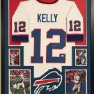 Jim Kelly Signed Autographed Framed Buffalo Bills Jersey JSA