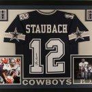 Roger Staubach Autographed Signed Framed Dallas Cowboys Jersey JSA