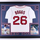 Wade Boggs Autographed Signed Framed Boston Red Sox Jersey JSA