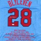 Bert Blyleven Autographed Signed Minnesota Twins STAT Jersey JSA
