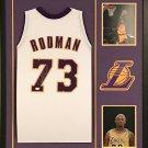 Dennis Rodman Autographed Signed Framed Los Angeles Lakers Jersey JSA