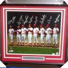 Cincinnati Reds Big Red Machine (8 Sigs) Signed Autographed Framed 16x20 Photo PSA