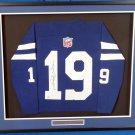 Johnny Unitas Autographed Signed Framed Baltimore Colts Jersey JSA