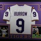 Joe Burrow Autographed Signed Framed LSU Tigers Jersey BECKETT