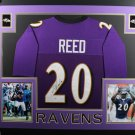 Ed Reed Signed Autographed Baltimore Ravens Framed Jersey BECKETT