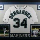 Felix Hernandez Autographed Signed Framed Seattle Mariners Jersey JSA