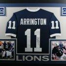 Lavar Arrington Signed Autographed Penn State Nittany Lions Framed Jersey JSA