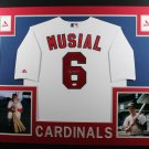Stan Musial Autographed Signed Framed St Louis Cardinals Jersey JSA