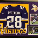Adrian Peterson Autographed Signed Framed Minnesota Vikings Jersey PSA