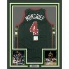 Sidney Moncrief Signed Autographed Framed Milwaukee Bucks Jersey PSA