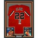 Jack Clark Autographed Signed Framed San Francisco Giants Jersey JSA