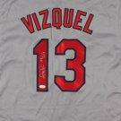 Omar Vizquel Signed Autographed Cleveland Indians Jersey JSA