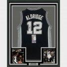 Lamarcus Aldridge Signed Autographed Framed San Antonio Spurs Jersey JSA