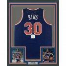 Bernard King Autographed Signed Framed New York Knicks Jersey BECKETT