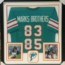 Mark Duper & Mark Clayton Autographed Signed Framed Miami Dolphins Jersey JSA