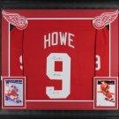 Gordie Howe Autographed Signed Framed Detroit Red Wings CCM Jersey JSA