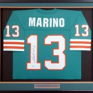 Dan Marino Autographed Signed Framed Miami Dolphins M&N Jersey BECKETT