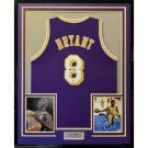 Kobe Bryant Autographed Signed Framed Rookie Era Los Angeles Lakers Purple Jersey PSA