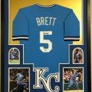 Bret Saberhagen Signed Autographed Framed Kansas City Royals Jersey JSA