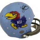 John Riggins Redskins Autographed Signed Kansas Jayhawks Full Size Helmet JSA